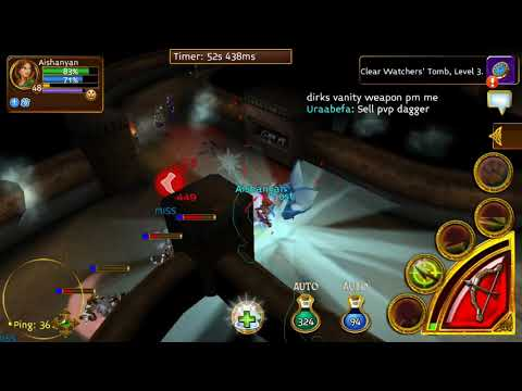 ARCANE LEGENDS GAMEPLAY PART 17 - Watchers' Tomb In Traveler Outpost All Quests And Tombs