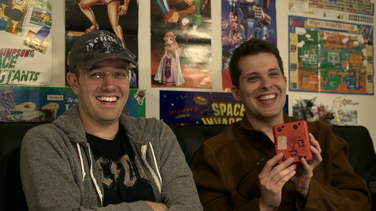 Photo of James Rolfe  & his friend Mike Matei