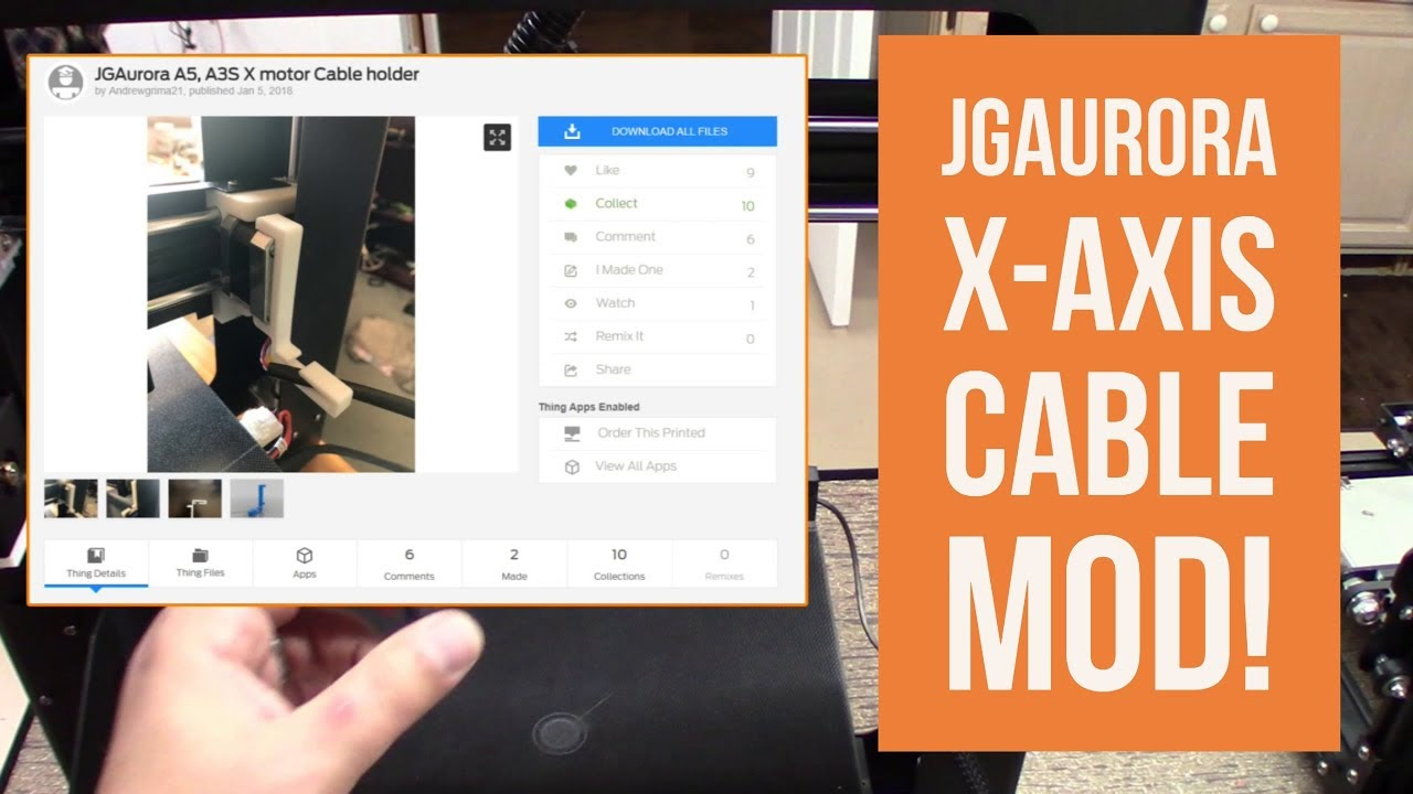 GearBest JGAURORA A5 - Quick X Axis Mod From Thingiverse!