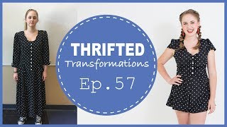 DIY Polka Dot Romper | Thrifted Transformations Ep. 57