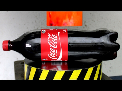 Thumbnail: EXPERIMENT Glowing 1000 degree HYDRAULIC PRESS 100 TON vs COCA COLA