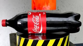 Repeat youtube video EXPERIMENT Glowing 1000 degree HYDRAULIC PRESS 100 TON vs COCA COLA