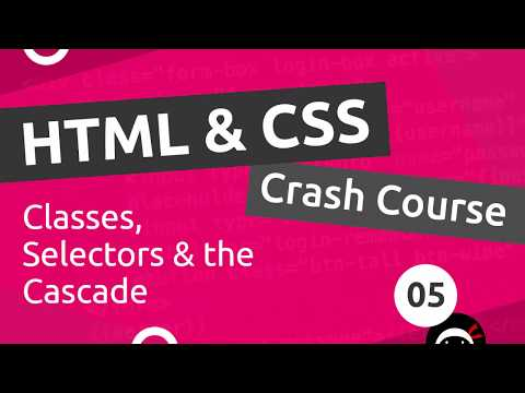 HTML & CSS Crash Course Tutorial #5 - CSS Classes & Selectors
