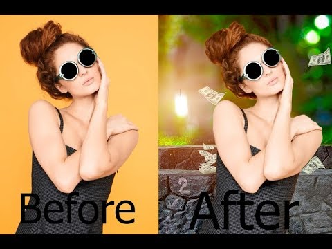 Photoshop Tutorial | How to Change Background in Photoshop by Ahsan tec thumbnail