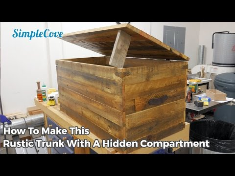 Rustic Trunk With A Hidden Compartment