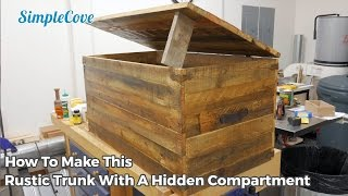 If you want to see detailed pictures, parts list and more, please visit http://www.simplecove.com/232/rustic-pallet-wood-trunk/ If you