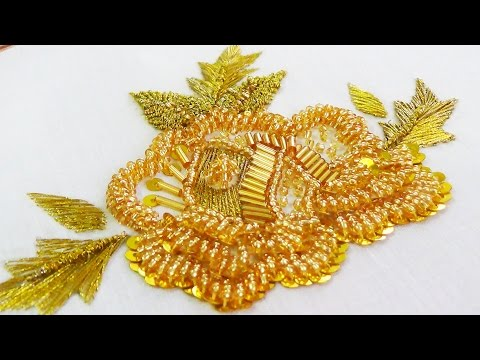 Hand Embroidery: Bead Embroidery (Golden)