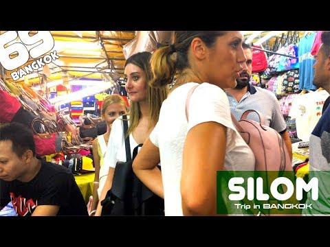 Silom Night Time / walk in Bangkok