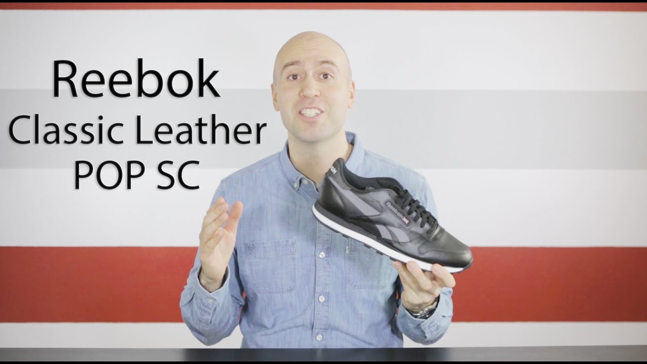5c2d7375bc44 Reebok Classic Leather Black POP SC - Unboxing + Review + Close up + On  feet - Mr Stoltz 2016