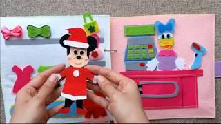 Minnie Mouse Shopping | Chuột Minnie Đi Shopping | Disney Minnie Quiet Book