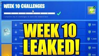 FORTNITE SEASON 6 WEEK 10 CHALLENGES LEAKED! WEEK 10 ALL CHALLENGES EASY GUIDE WEEK 10 CHALLENGES!