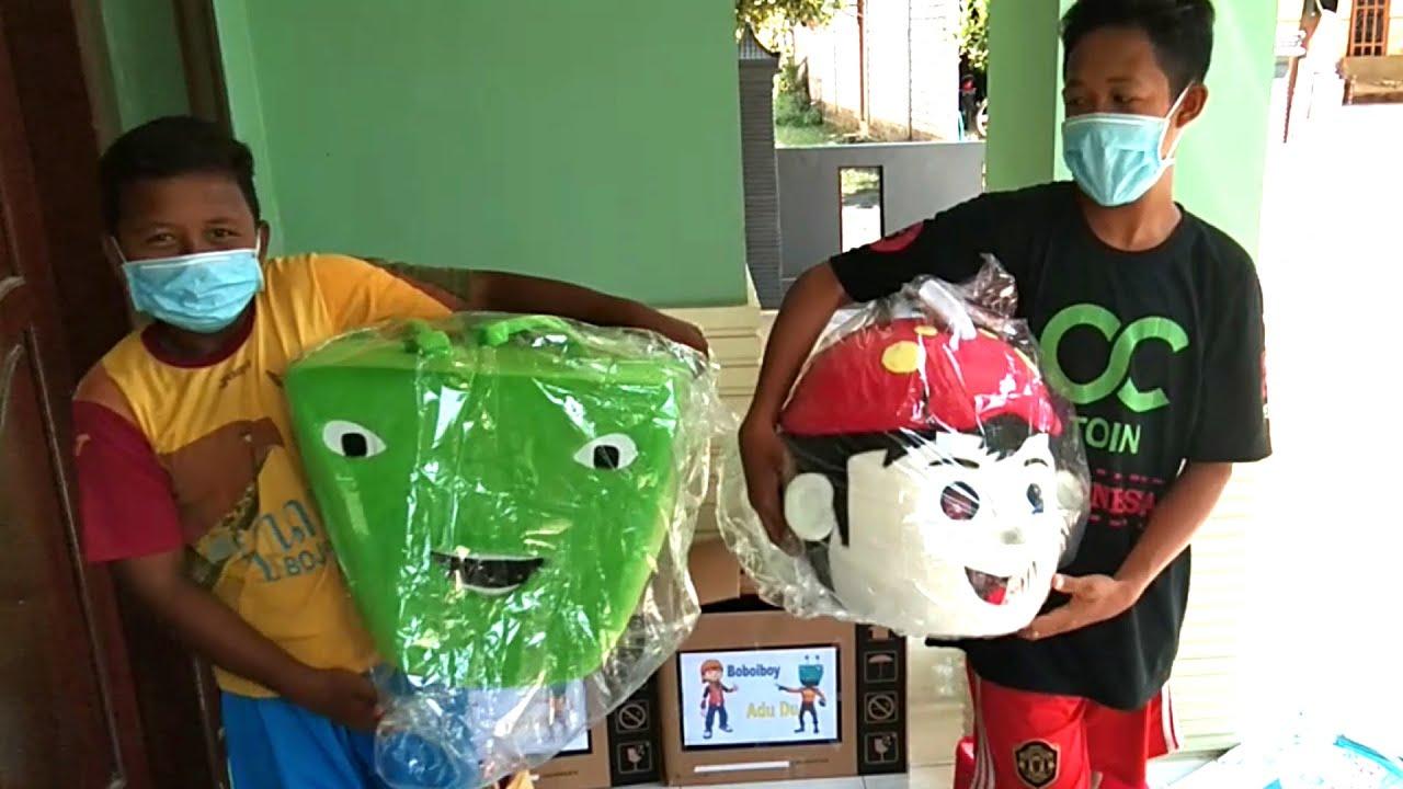 UNBOXING COSPLAY BoBoiBoy & Adu Du, Kostum BoBoiBoy Adu Du Beli Online, Lily & On My Way Alan Walker