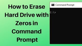how to Erase Hard Drive with Zeros in Command Prompt