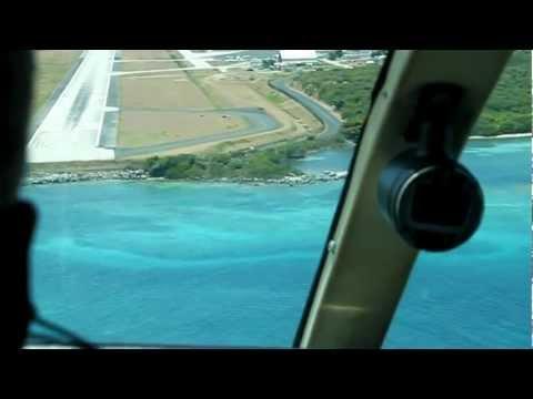 Cape Air landing in Tortola, BVI