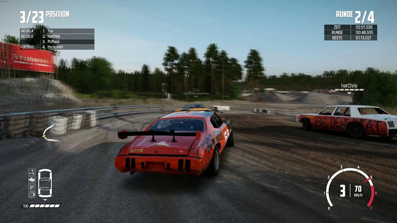 Wreckfest clean racing - YouTube