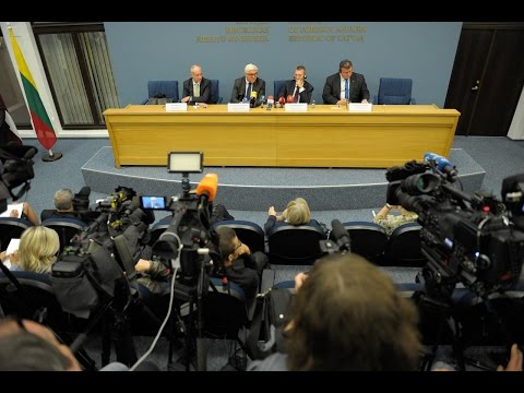Joint press conference of Foreign Ministers of the Baltic States and Germany in Riga