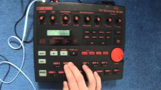 making beats on the boss dr 202 drum machine
