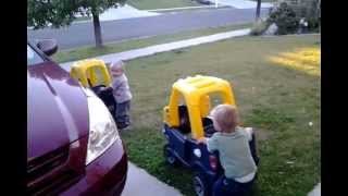 Twin Toddlers Hijack 2 Cars
