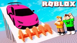 I BROKE JAZZGHOST'S CAR! -ROBLOX (FT subscribers)