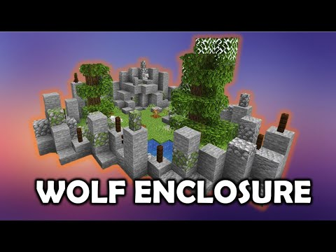How To Build A Wolf Enclosure - Minecraft 1.14