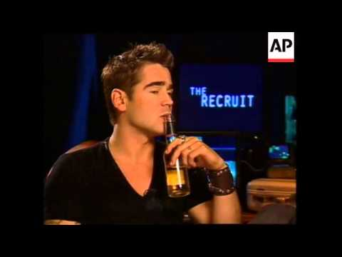 Colin Farrell smoking and drinking beer throughout interview