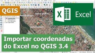 Importar coordenadas geográficas, Graus Minutos e Segundos, do Excel para o QGIS