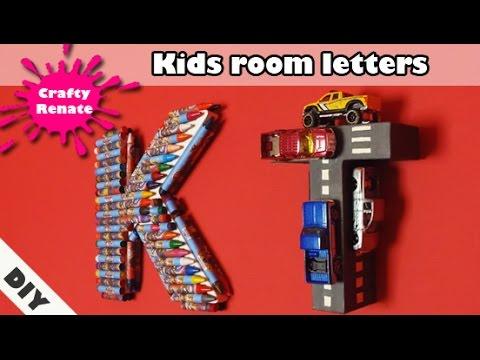 DIY kids room letter decorations 🧒