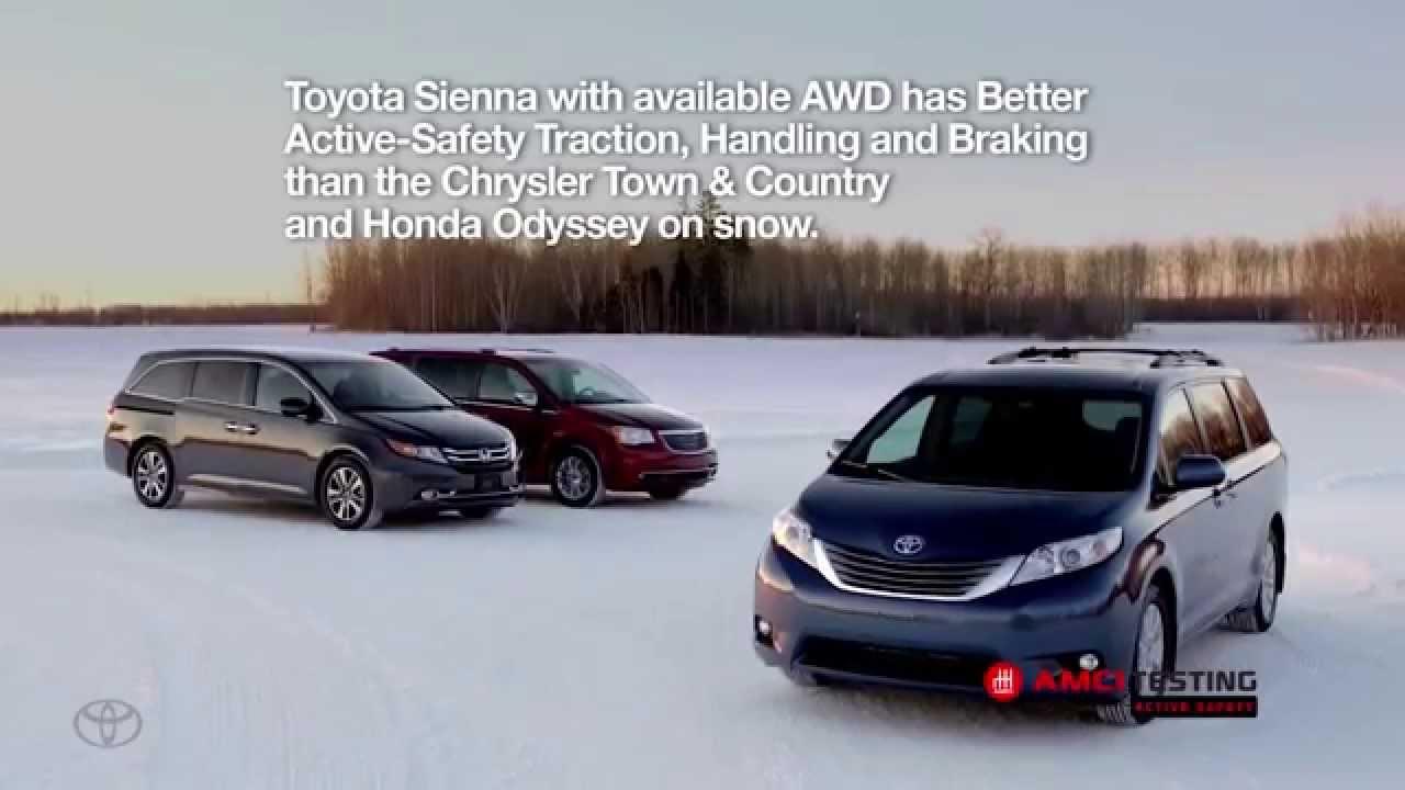 AMCI Winter Driving Performance Test Winner - 2015 Toyota Sienna XLE ...