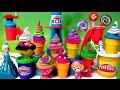 ★ Huge ★ Play Doh Magic Swirl Ice Cream Shoppe Gift set by Hasbro Cake Popsicles Sundaes Disney Elsa