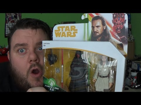 Star Wars Force Link 2.0 Darth Maul and Qui-Gon Jinn 3.75 Solo Movie Wave Action Figure Toy Review