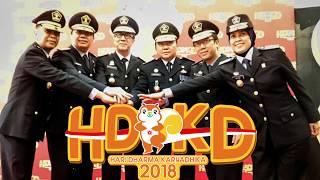 Upacara HDKD di Kementerian Hukum dan HAM