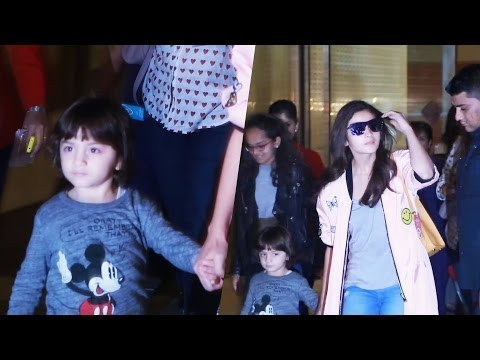 Shahrukh Khan's Son AbRam With Alia Bhatt Spotted At Airport
