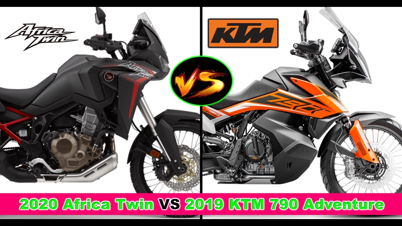 2020 Honda Africa Twin Vs 2019 Ktm 790 Adventure Specification Comparison Youtube