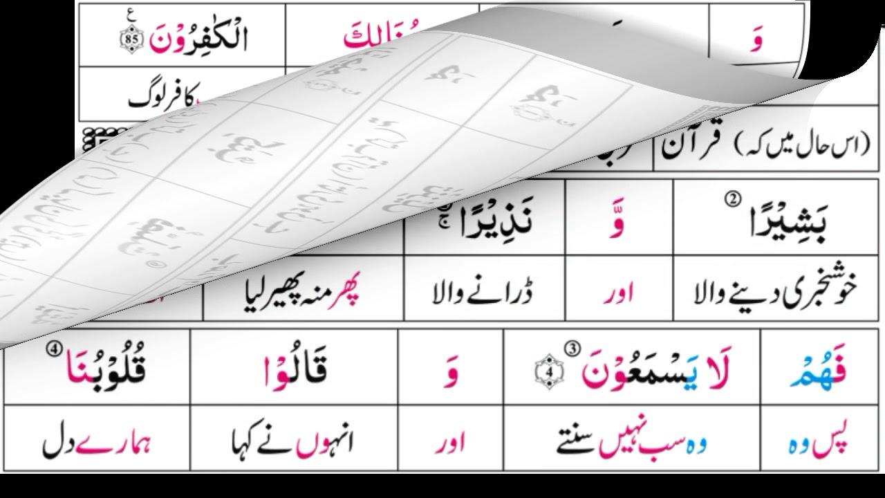 P24TF250 Tafseer Ul Quran Para 24 Surah Al Ha-Mim Al Sajdah Ayaat 01 - 24