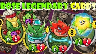 Plants vs Zombies Heroes : Rose 4 Legendary - Dark Matter, Astro Vera, Shooting Star, Cornucopia