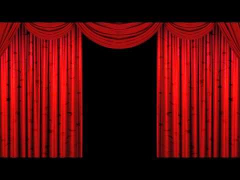 Футажи - театральный занавес (the curtain opens and closes)