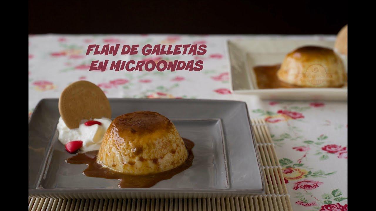 Flan de galletas en microondas postre f cil y r pido - Postres ligeros y rapidos ...