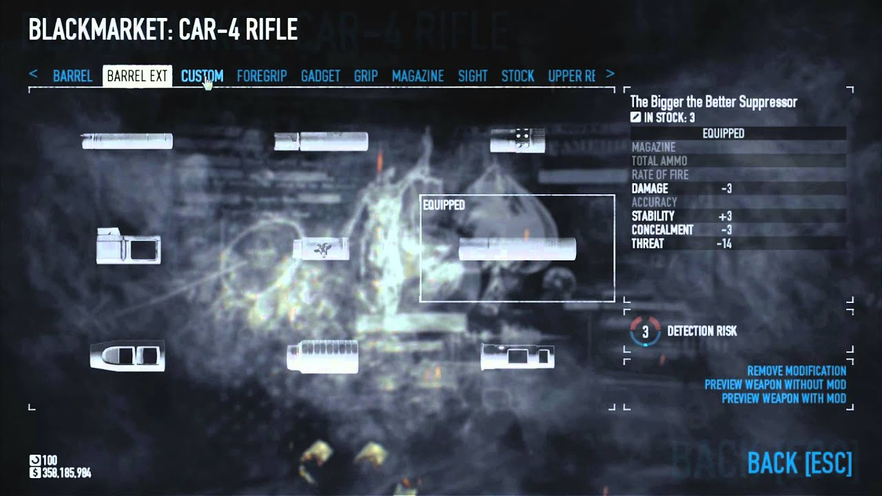 Patched Payday 2 Stealth Weapon Setup Car 4 Rifle All Dlcs