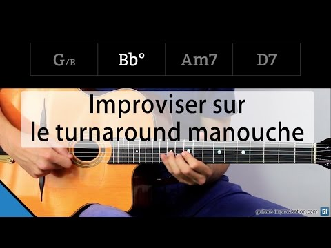 Improvise on the Gypsy turnaround (G Bb° Am7 D7)