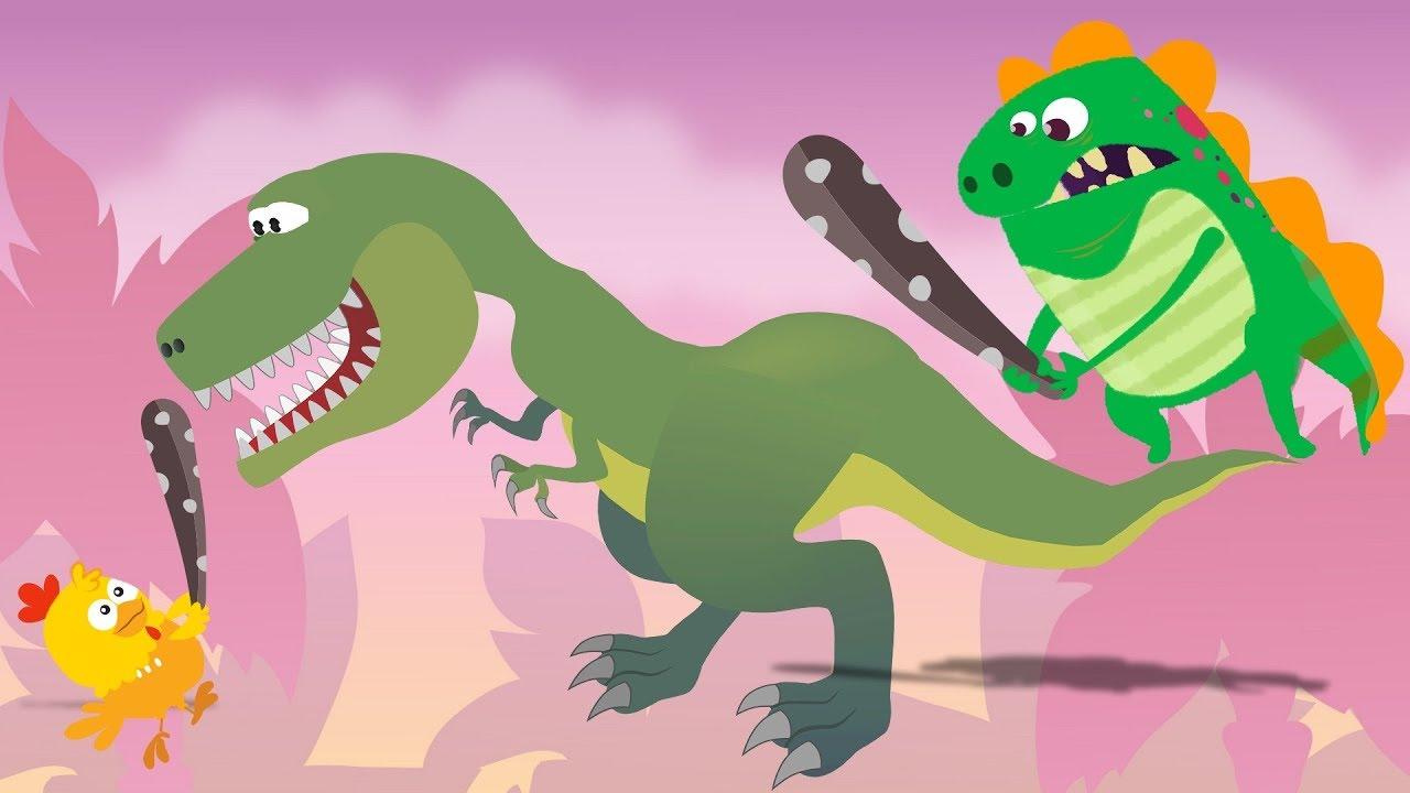 Dino E Dina Dinossauros Em Cacando Dinossauros Desenho Animado