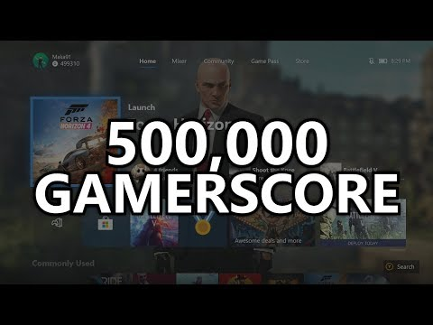 500,000 GAMERSCORE! Looking Over My Gamercard & Talking About Games And Achievements At 500k!