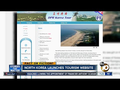 North Korea launches tourism website?