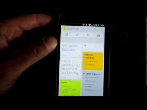 Google Keep Android App Tutorial and Review