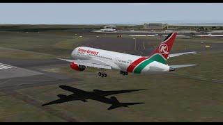 Kenyan B788 Arriving into Nairobi