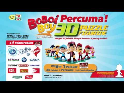 BoBoiBoy Free 3D Puzzle Figurine - Kini di 7-Eleven Malaysia!