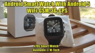 Android Smart Watch X07s PLUS 3G-WiFi (Sim/Card Support) Review By M-Tech URDU/HINDI