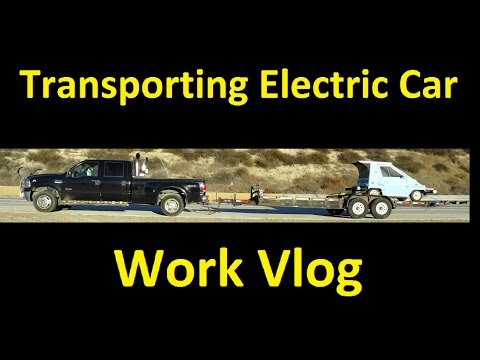 Electric Car Transport ~ Meeting Subscribers ~ Work Vlog