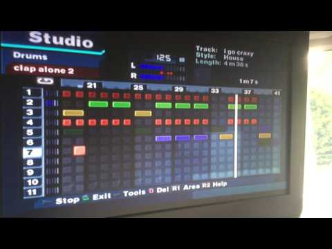 Showing you a song that I made on MTV music generator 3 on the PlayStation 2