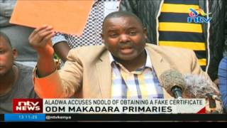 Aladwa accuses Ndolo of obtaining a fake certificate