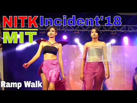 Fashion show at NITK |Incident'18|NITK SURATHKAL| Runners Up Team| MIT group